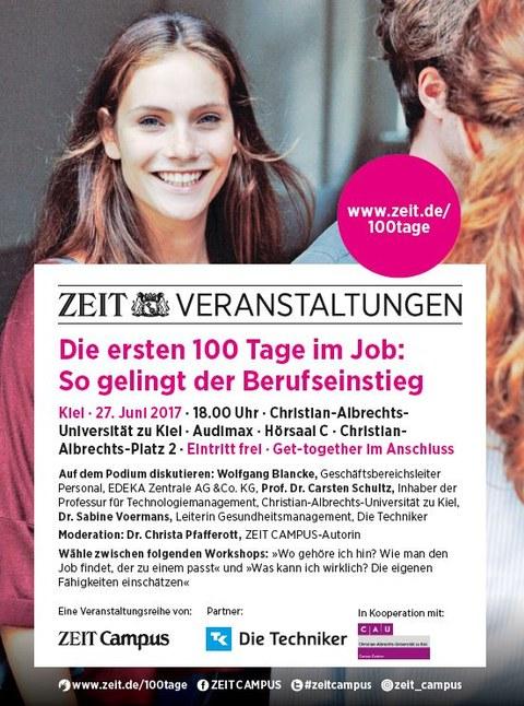 ZEIT CAMPUS im Gespräch: Die ersten 100 Tage im Job Flyer