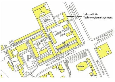 Lageplan Campus
